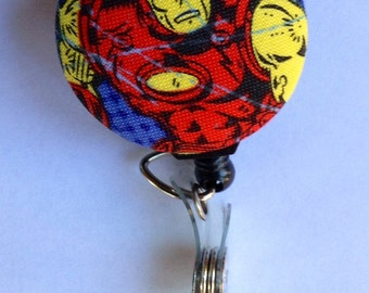Iron Man Retractable Fabric Badge Reel / ID Holder - Marvel