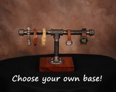 Industrial/Urban/Pipe Jewelry Stand, Watch-Bracelet Stand, watch stand, bracelet stand, men's jewelry stand