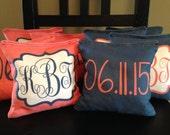 Custom Corn Hole Bags - Great for weddings, birthdays