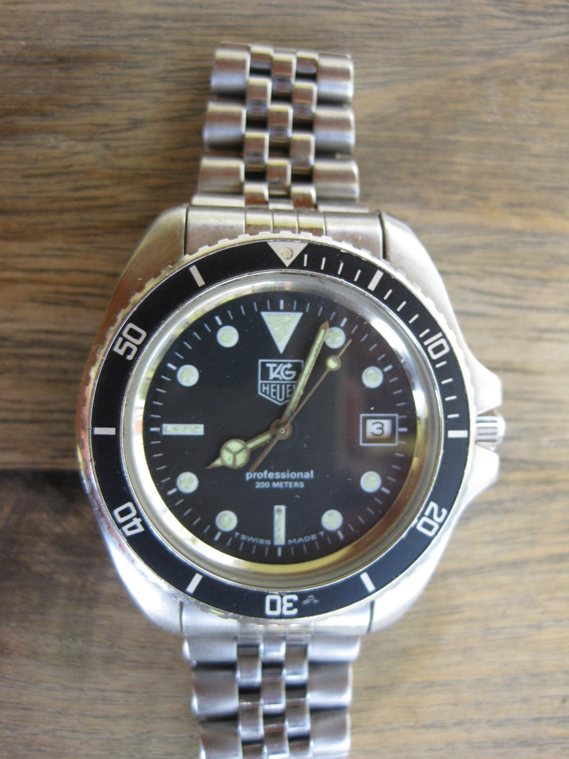Reserved for carlos vintage tag heuer diving watch for Tag heuer divers watch