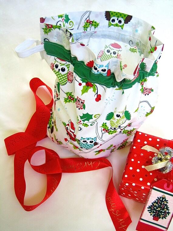 Sack Of Toys For Christmas : Christmas santa sack fabric bag toy and gift handmade
