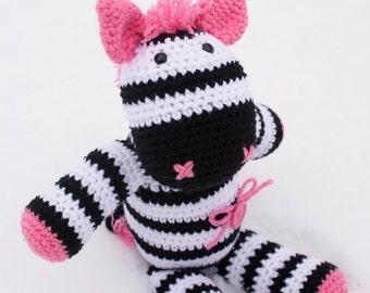 Zephie the Zebra amigurumi stuffie toy crochet pattern, zebra animal, zebra toy, crochet pattern, amigurumi, zebra