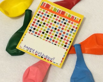 Happy Birthday Yellow Blank Card with envelope