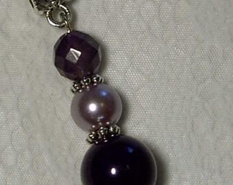 """Cynthia Lynn """"FEBRUARY'S CHILD"""" Ladies Birthstone Amethyst Purple Crystal Pendant 1.25"""""""