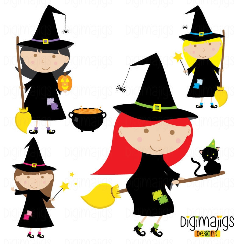 Witch Clipart Halloween Clipart Cute Witch Halloween