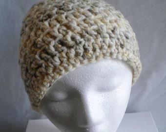 Crochet hat, oatmeal