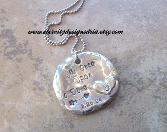 Personalized Couples Necklace, My Once Upon A Time
