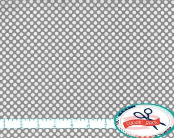 GRAY POLKA DOT Fabric by the Yard, Fat Quarter Gray Fabric Gray Dot Fabric Quilting Fabric 100% Cotton Fabric Apparel Fabric Yardage w9-16