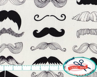MUSTACHE Fabric by the Yard, Fat Quarter ALEXANDER HENRY Fabric Wheres my Stache Quilting Fabric Apparel Fabric 100% Cotton Fabric t3-2