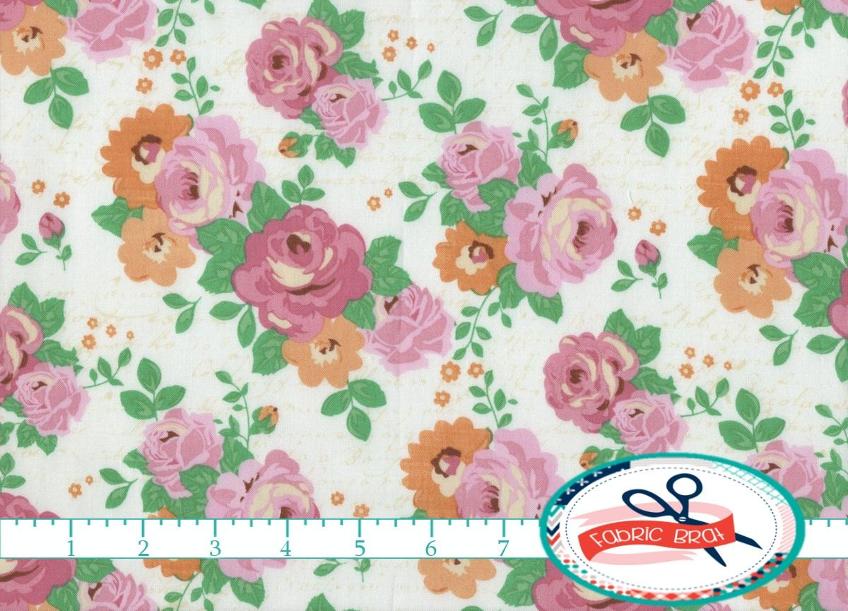Shabby chic fabric by the yard fat quarter cake by fabricbrat for Shabby chic yard