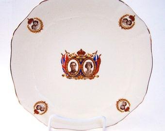 Vintage King George VI Canadian Visit Alfred Meakin Plate