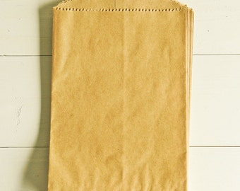 Paper Bags in Kraft Brown - Set of 20 - 5x7 Party Favor Kraft Packaging Gift Wrapping Wedding Holiday Plain Matte Sacks Merchandise