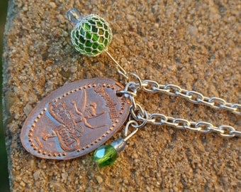 Tinkerbell Chain Necklace- Disneyland Pressed Penny