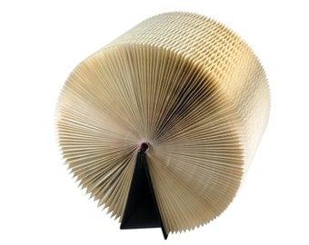 Altered Book Art - Honeycomb Book Sculpture - Wheel of Wisdom