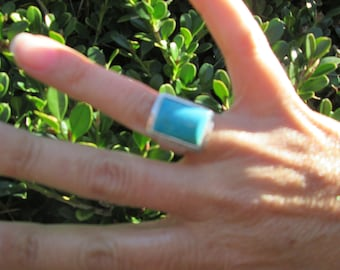 Sterling with Turquoise Ring Size 6.5