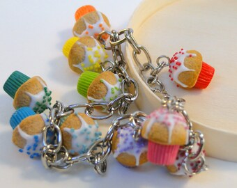 Colourful Cupcake Bracelet - Fimo Food