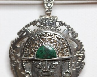Vintage Sterling Silver Peruvian Design Pendant/Brooch