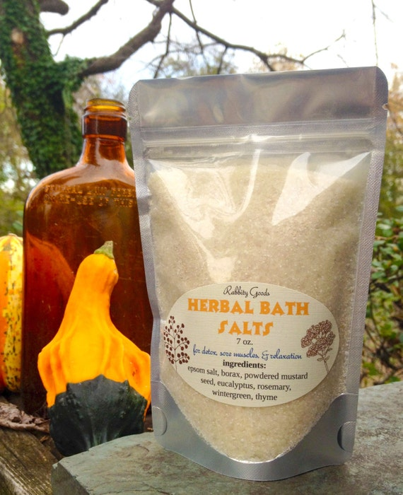 Herbal Bath Salts 7 Oz Epsom Salt Sore Muscles By