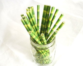 Bamboo Paper Straws, Coastal Living, Party Supplies, Panda Theme, Safari Themed Birthday, Green Paper Straws, Hawaiian Party, Pool Party