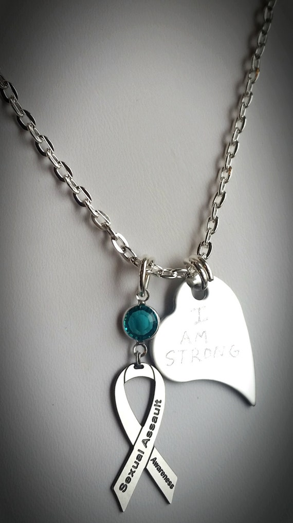 Personalized sexual assault awareness by amerricanajewelry for Jewelry that supports a charity
