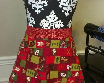 Holiday Woodland Skirt Apron