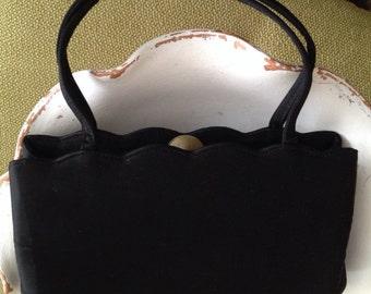 Vintage Coblentz Black Satin Evening Bag