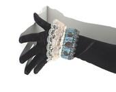 Cuff Bracelet, Fantasy Cuff, Lace Cuff, Heart Cuff, Medival Cuff, Cosplay Cuff, Medival Bracelet, Fantasy Bracelet - by FairyLace Designs