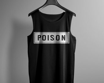 Mens Poison Label Tank Top - Occult Tank - Occult Print Graphic Tank - Graphic Tee - Graphic Tank Top - Occult Shirt