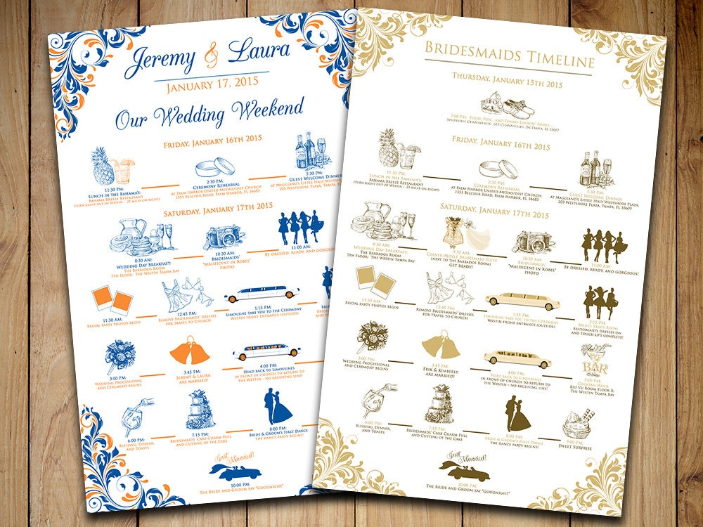 Wedding timeline wedding itinerary order of events wedding zoom pronofoot35fo Choice Image