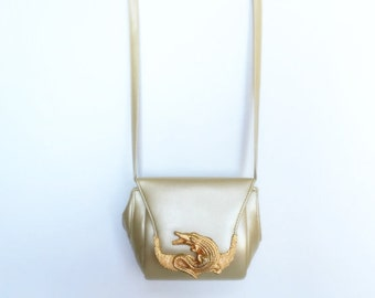 Vintage Cooper J Purse Gold Alligator Snap