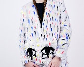 Confetti Hand Painted Fur Coat AW14