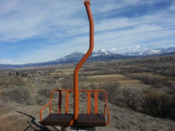 Ski Lift Swing : Antique ski lift chair swing free shipping by