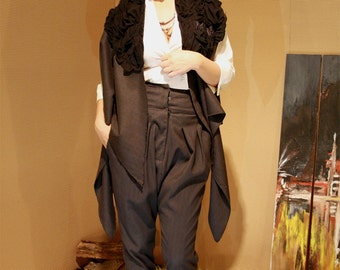Avant garde, Contemporary Suit - Matching women's vest and trousers