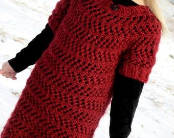 Toddler Knit Sweater Dress Pattern : KNITTING PATTERN PDF sweater knit pattern baby sweater