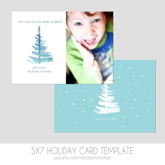 5x7 postcard mailing template - items similar to 5x7 christmas card template front and