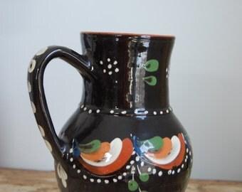 Vintage Hungarian Folk Vase 1960s