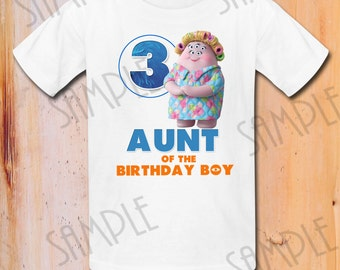 INSTANT DOWNLOAD Pixar Monsters Inc Iron On Transfer Printable Aunt the Birthday Boy digital download DIY Monsters Birthday Party shirt