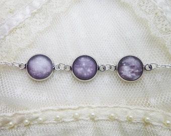 Night Sky Bracelet, Constellation Bracelet, Starry Night Bracelet, Nebulae Bracelet, Stars Bracelet, Galaxy Bracelet, Astronomy Bracelet