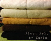 "Plush Felt - 1 Yard of Ivory Plush Felt by ""Kunin"" for Sparkles N Spirit Dolls"