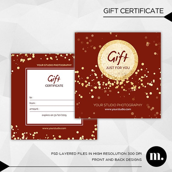 photography christmas gift certificate template for by mioradesign