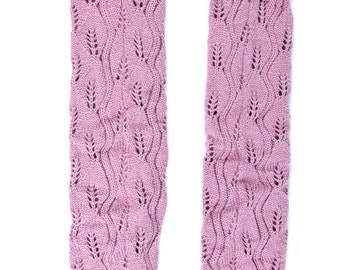 Women Knit Lace Long Button Leg Warmers, Boot Socks, Leg Sweaters, Cable Knit Socks-Pink