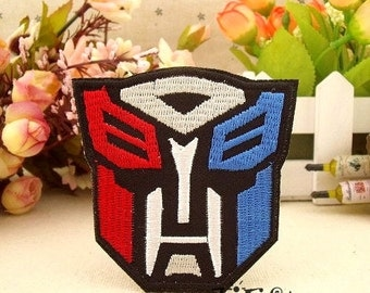 Autobot Logo Iron on Patch Embroidery Patch Movie Sew on Applique CB222-3