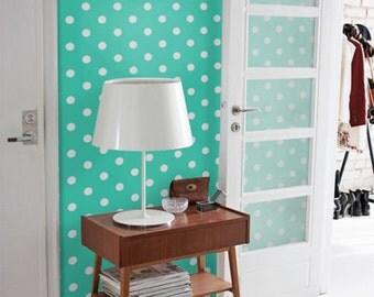 Mint Polka dot self-adhesive modern vinyl Wallpaper wall sticker - Removable wall sticker C017