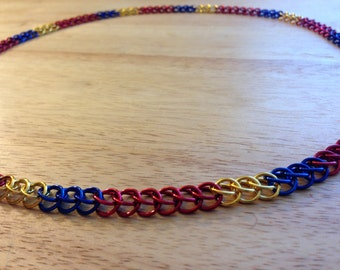 Cleveland Cavs Chainmaille Necklace