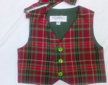 Boy's Christmas Vest and Bowtie - Size 3T