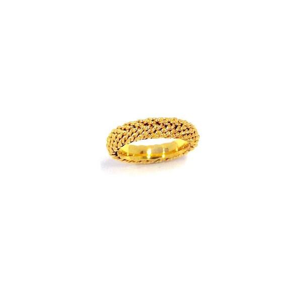 Wedding Ring For Man 14k Gold Hand Woven Wedding Band By Nautigold