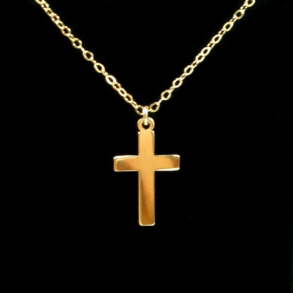 cross necklace in 14k gold filled cross necklace simple gold