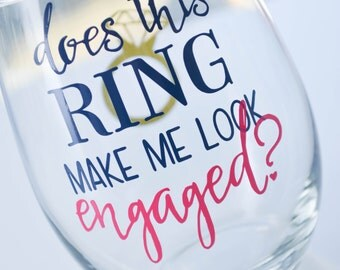 Engaged Ring Stemless Wine Glass 21oz