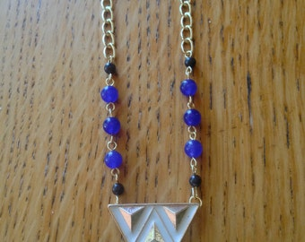Tribal Cobalt Blue Necklace