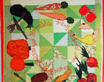 Veggie Soup By Pamela Mostek And Making Lemonade Designs Applique Wall Hanging Quilt Pattern Packet Undated